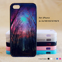 Woodlands Forest Trees With Stars Phone Case For iPhone 6 Plus For iPhone 6 For iPhone 5/5S For iPhone 4/4S For iPhone 5C iPhone X 8 8 Plus