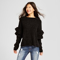 Women's Chenille Ruffle Sleeve Pullover - Mossimo Supply Co.™