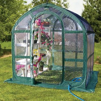 6 x 6 ft. Green and Clear Polyethylene Greenhouse