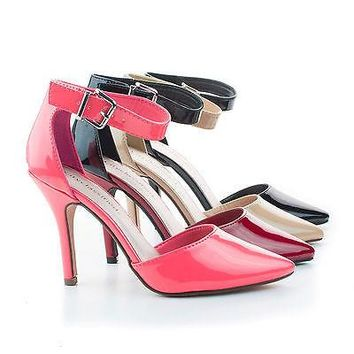 Update Cherry Black By City Classified, D'Orsay Pump w Ankle Strap High Heel Stiletto Women Shoe