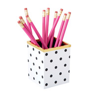 See Jane Work® Pencil Cup, Black Dot