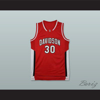 Stephen Curry 30 Davidson College Wildcats Red Basketball Jersey