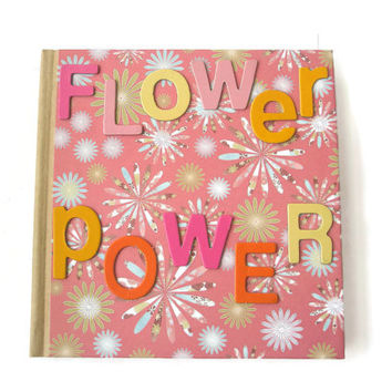 Flower Power note book lined paper Pink gifts school stationary Office stationary Journal
