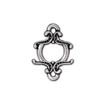 94-6015-12 - TierraCast Antique Silver Pewter Keepsake Toggle, 12mm | Pkg 2