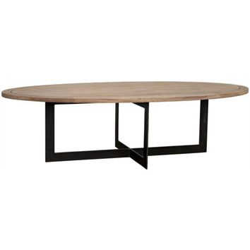 Silvana Coffee Table, Metal, Washed Walnut
