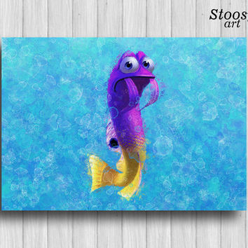 nautical art print finding nemo nursery fishing decor finding nemo art