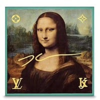 LOUIS VUITTON LV Mona Lisa Scarf Scarves Silk 100% DA VINCI Women Auth New Rare