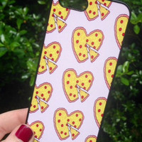 Iphone 5 5S Phone Case Heart Shaped Pizza Print Hipster Phone Cover