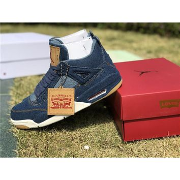 Air Jordan 4 Retro Levis Nrg A02571 401 Basketball Shoes | Best Deal Online