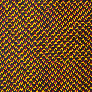 African print fabric sold by yard/ Ankara fabric/ Waxprint fabric/ African Supplies for dress skirt/ Yellow African fabric/ dutch wax