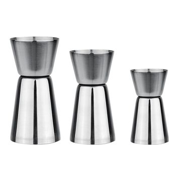 3 Sizes Stainless Steel Cocktail Drink Mixer Measuring Cup Jigger Measurer Set Bar Tools Wine Pourers Free Shipping