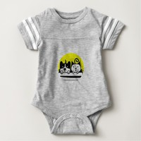 dog and cat baby bodysuit