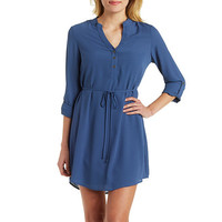 Sash-Tie Shirt Dress