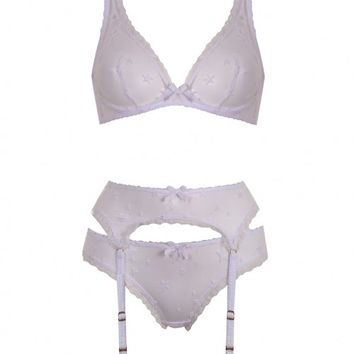 Luxx White Star Suspender | By Agent Provocateur