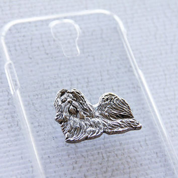 Shih Tzu Ultra Glossy Clear Samsung Galaxy Silver Plated S4 Hard Cellphone Case iPhone 6 Plus Case