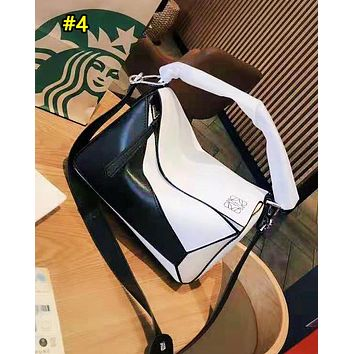 Loewe hot seller of casual patchwork multi-color single-shoulder bags for fashionable ladies with diagonal straddle bag #4