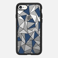 Abstraction Lines Navy Blocks Transparent iPhone 7 Case by Project M | Casetify