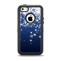 The Glowing White SnowFlakes Apple iPhone 5c Otterbox Defender Case Skin Set