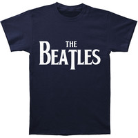 Beatles Men's  Vintage Logo T-shirt Navy Rockabilia