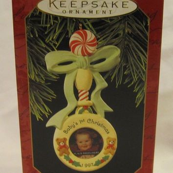 Hallmark 1997 Baby's First Christmas Keepsake Ornament QX6482
