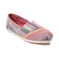 Womens TOMS Classic Quilted Weave Casual Shoe