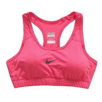NIKE Casual Gym Sport Yoga Embroidery Print Vest Tank Top Cami-1