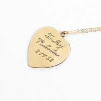 "Vintage 12k Gold Filled Dated ""1958"" Heart Pendant Necklace- ""To My Valentine"" Mid-Century 1950s Love Romantic Jewelry"