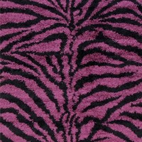 Purple Zebra Shag Area Rugs