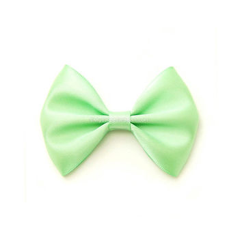 Mint Hair Bow, 3 Inch Bow, Satin Hairbow, Toddler Hairbows, For Girls, Babies, Women, Mint Green