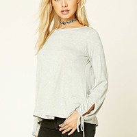 Heathered Self-Tie Top