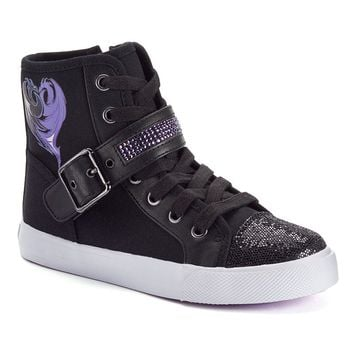 Disney D-Signed Descendants Dragon Girls' Graphic High-Top Sneakers (Black)