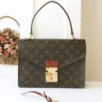 PEAPYD9 Louis Vuitton Bag Concorde Vintage Handbag Monogram Brown Authentic