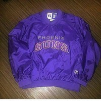 Phoenix Suns Logo 7 90s Pullover Shipped Size XL NBA sold by Deadstock Dynasty