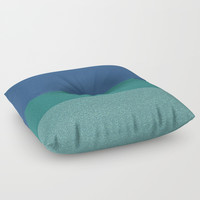 Blue Colors Glitter Texture Pattern Floor Pillow by Paula Oliveira