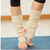 Knitted Leg Warmers For Women Yo-ga Socks Boot Cuffs Winter Bodybuilding Socks  Polainas Para As Mulheres Gaiters