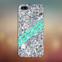 Sandy Stone x Blue Green Geometric Stripes Case for iPhone 6 6 Plus iPhone 5 5s 5c iPhone 4 4s Samsung Galaxy s6 s5 s4 & s3 and Note 4 3 2