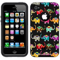 Otterbox Commuter Colorful Elephant Pattern Case for Apple iPhone 4