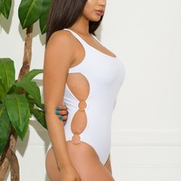 Bacalar One Piece Swimsuit-White