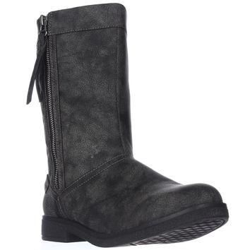 Rocket Dog Tipton Quilted Mid-Calf Boots, Black, 6 US