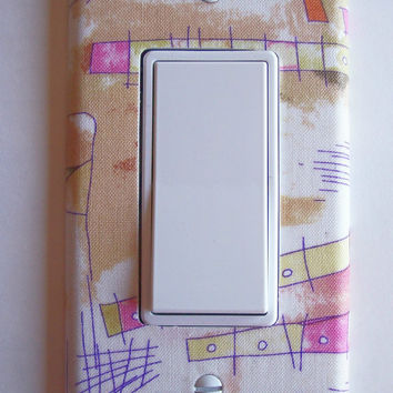 Watercolors Rocker / GFI Switch Plate, wall decor