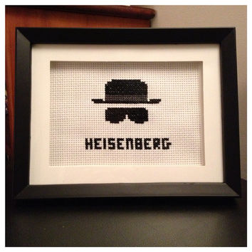 Heisenberg Cross Stitch Framed