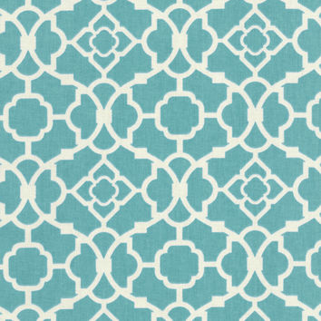 Home Decor Print Fabric- Waverly Lovely Lattice Aqua | JOANN