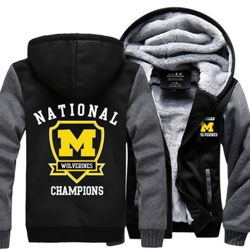 [ 50% OFF!! ] EXCLUSIVE MICHIGAN WOLVERINES HOODIE JACKET - FREE SHIPPING