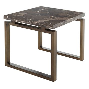 Safavieh Couture Naomi End Table (Brass Plated Stainless)