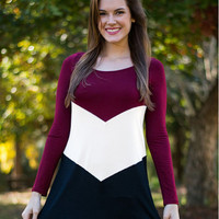 Casual Color Block Long Sleeve Sweat Shirt