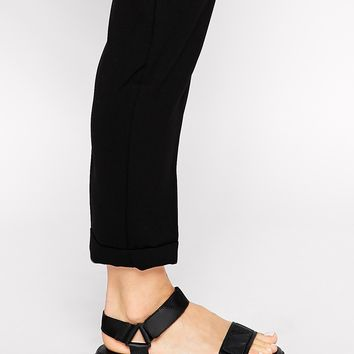 Vagabond Flora Black Strap Flat Sandals at asos.com