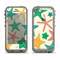 The Tan And Colorful Vector StarFish Apple iPhone 5c LifeProof Fre Case Skin Set
