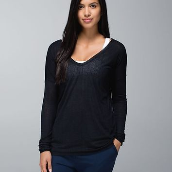 flip your dog long sleeve tee burnout | women's tops | lululemon athletica