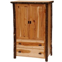 Rustic Hickory Two Drawer Wardrobe