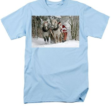 Santa Sleigh With Horses - Men's T-Shirt  (Regular Fit)